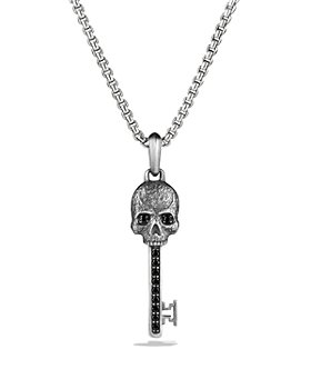 David Yurman - Petrvs Skull Key Pendant with Black Diamonds