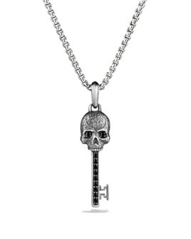 David Yurman - Petrvs Skull Key Pendant with Black Diamonds