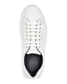 Salvatore Ferragamo - Men's Leather Lace Up Sneakers