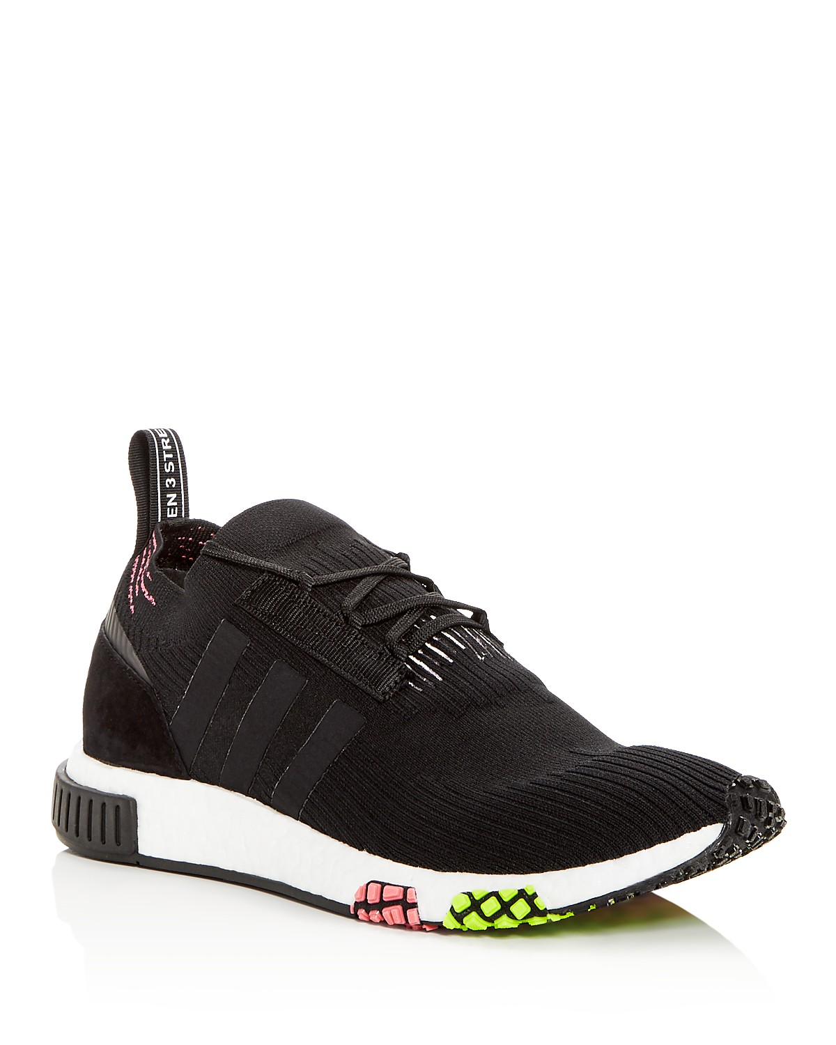 adidas Men's Nmd R1 Knit Lace Up Sneakers aVmgqVb