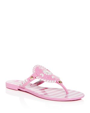 WOMEN'S GEORGICA STRIPED JELLY THONG SANDALS