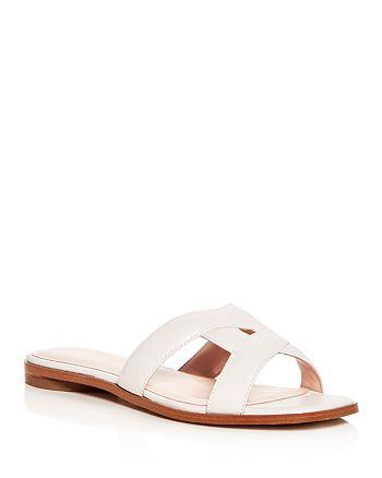 Avec Les Filles - Women's Blaye Leather Slide Sandals