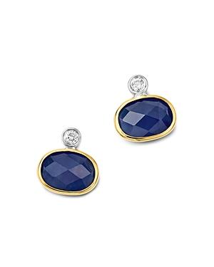 Meira T 14K White & Yellow Gold Sapphire Stud Earrings