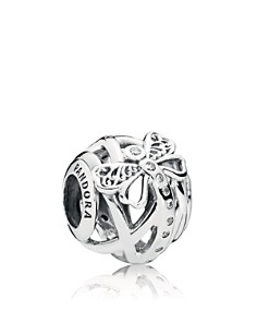 PANDORA Sterling Silver & Cubic Zirconia Enchantment Dreamy Dragonfly Charm - Bloomingdale's_0