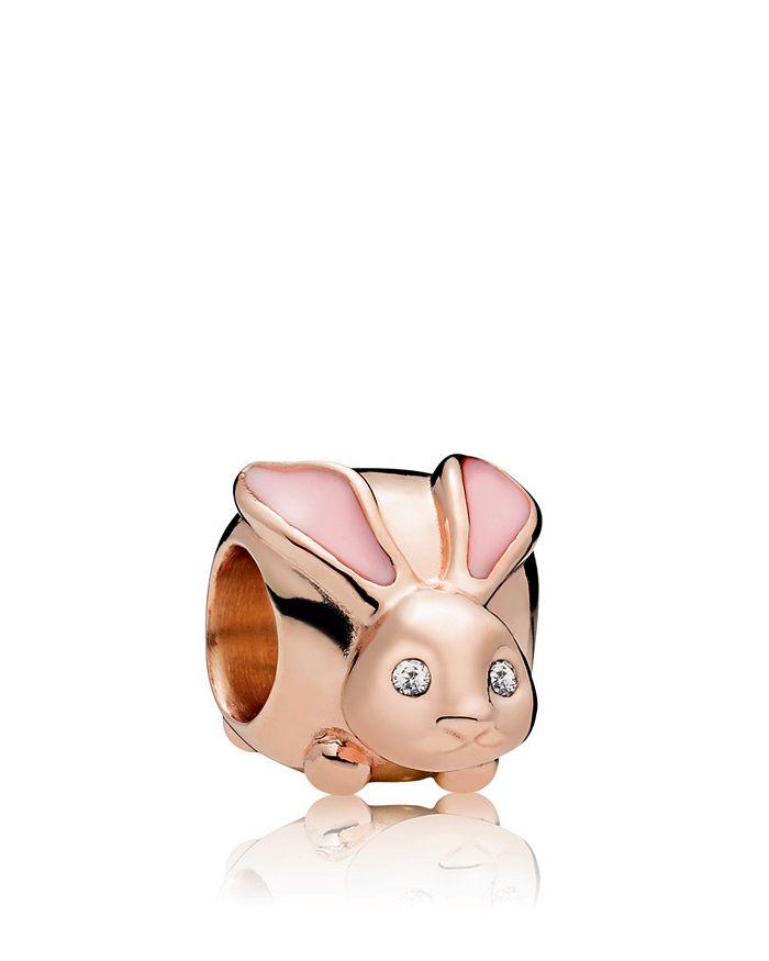 Pandora - Rose Cute Bunny Charm