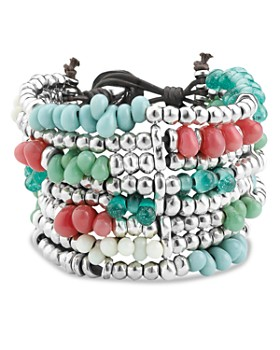 Uno de 50 - Beaded Cuff Bracelet