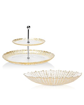 VIETRI - Rufalo Glass Gold Serveware