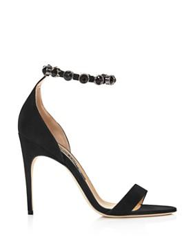 Sergio Rossi - Women's Embellished Suede High-Heel Sandals