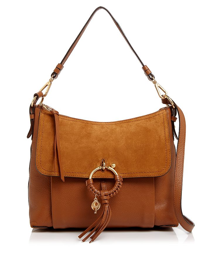 See By ChloÉ See By Chloe Joan Leather Shoulder Bag In Caramello Tan/gold