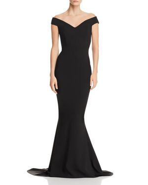 NOOKIE Allure Off-The-Shoulder Gown in Black