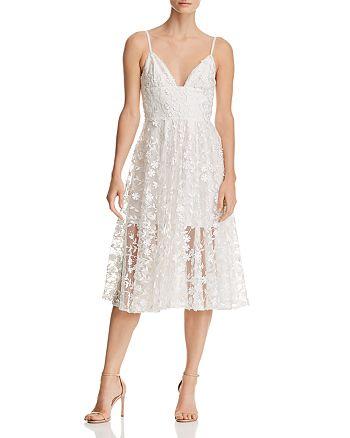 SAU LEE - Daisy Illusion Midi Dress