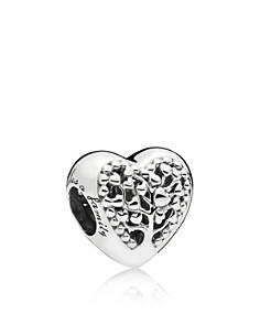 PANDORA Sterling Silver Flourishing Hearts Charm - Bloomingdale's_0