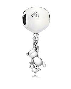 PANDORA Sterling Silver & Enamel Teddy & Balloon Drop Charm - Bloomingdale's_0