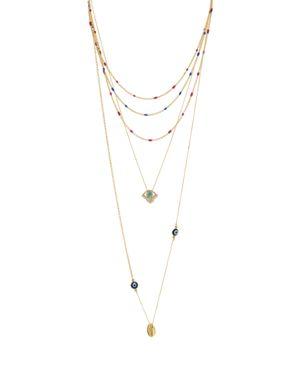 Rebecca Minkoff Multi Strand Chain Necklace