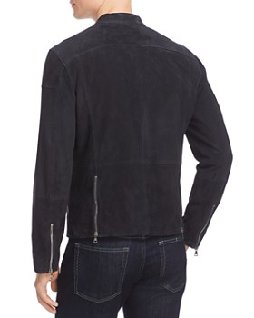 John Varvatos Collection - Suede Moto Jacket