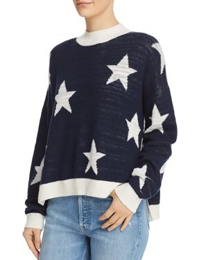 STAR PATTERN LINEN BLEND SWEATER