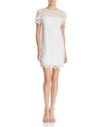 AQUA - Fringe-Trim Lace Dress - 100% Exclusive