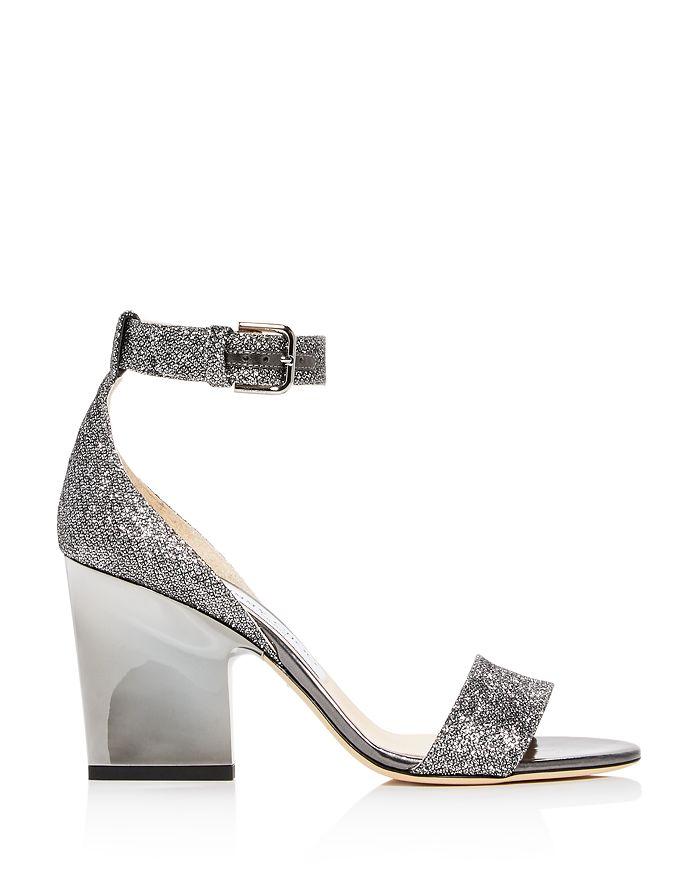 90bd81a18 Jimmy Choo Edina 85 Glitter High-Heel Sandals   Bloomingdale's