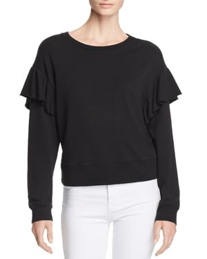 FAYE RUFFLED SWEATSHIRT