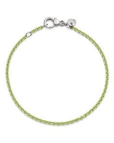 Dodo - Sterling Silver Chain Bracelet in Pastel Green