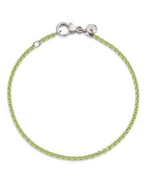 Dodo Sterling Silver Chain Bracelet in Pastel Green