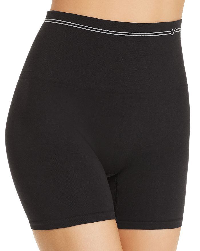 Yummie - Seamless Cotton-Stretch High-Waist Shorts