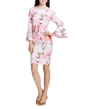 Calvin Klein Floral-Print Bell-Sleeve Dress 2950719