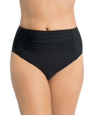 SHAPE SOLVER ULTRA HIGH WAIST SHIRRED BIKINI BOTTOM