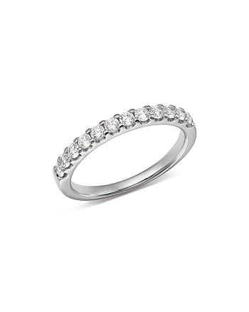 Bloomingdale's - Diamond Shared Prong Band in Platinum, 0.50 ct. t.w. - 100% Exclusive