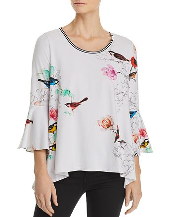Elie Tahari - Sanderson Floral and Fauna Knit Top
