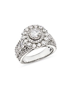 Bloomingdale's - Diamond Halo Engagement Ring in 14K White Gold, 2.45 ct. t.w. - 100% Exclusive