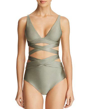 BECCA® by Rebecca Virtue - Ballerina Wrap Bikini Top & Ballerina High Waist Bikini Bottom