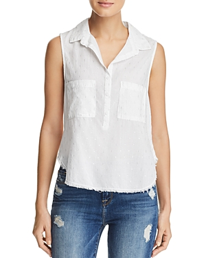 Bella Dahl HIPSTER METALLIC EMBROIDERED TOP
