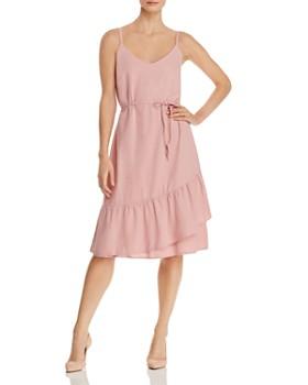 Vero Moda - Faux-Wrap Ruffled Dress