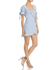 For Love & Lemons - Sweetheart Mini Wrap Dress