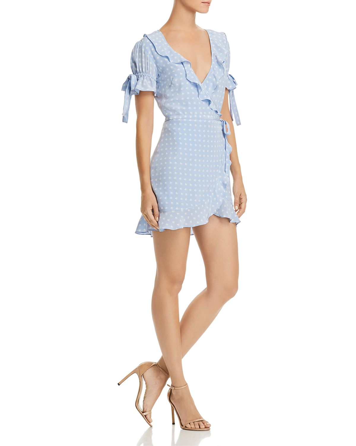 Sweetheart Mini Wrap Dress by For Love & Lemons