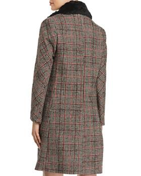 McQ Alexander McQueen - Faux-Fur-Trimmed Plaid Coat
