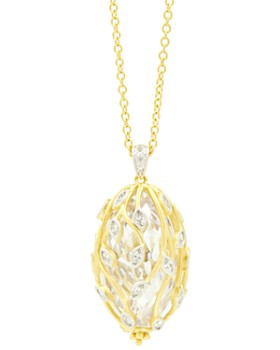 "Freida Rothman - Fleur Bloom Cluster Pendant Necklace, 24"""