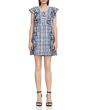 Bcbgmaxazria Caralyne Lace-Up Eyelet Dress