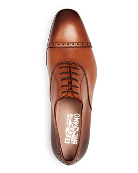 Salvatore Ferragamo - Men's Leather Brogue Cap-Toe Oxfords