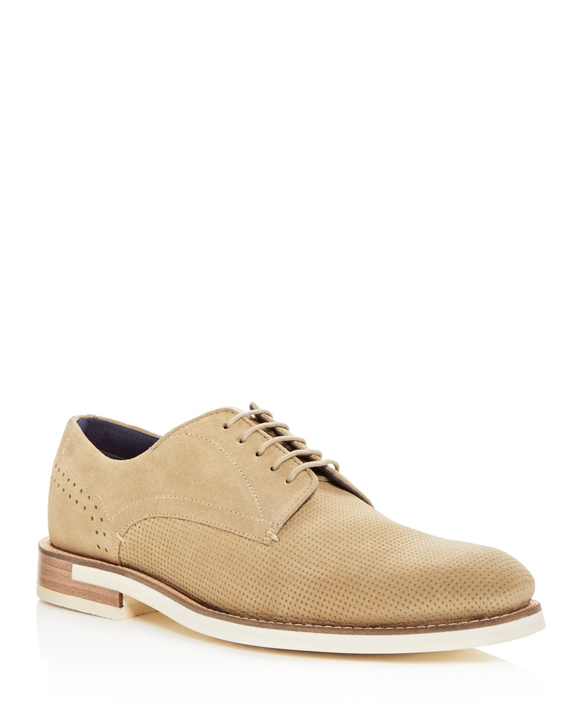 Ted Baker Men's Lapiin Embossed Suede Brogue Oxfords