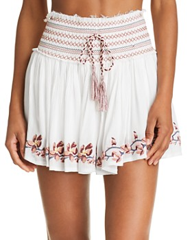 Surf Gypsy - Embroidered Mini Skirt Swim Cover-Up