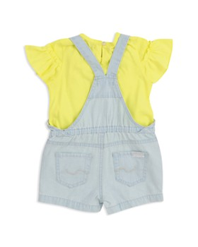 7 For All Mankind - Girls' Sunny Tee & Shortall Set - Baby