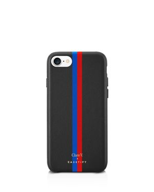 Clare V. x Casetify Striped Leather iPhone 6/7/8 Case