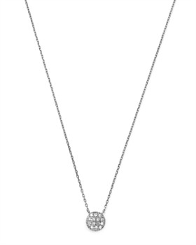 Moon & Meadow - Diamond Circle Pendant Necklace in 14K White Gold, 0.04 ct. t.w. - 100% Exclusive