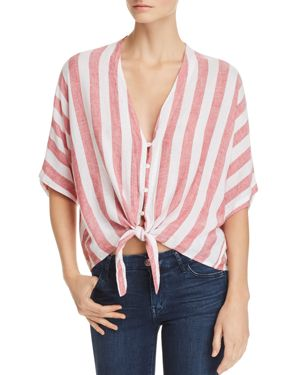Rails Thea Striped Tie-Front Shirt