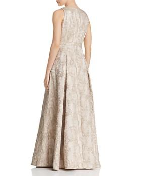 Eliza J - Embellished Metallic Gown