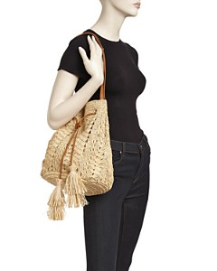 mar Y sol - Sanibel Raffia Drawstring Bucket Bag