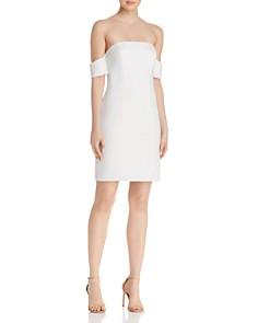 AQUA - Off-the-Shoulder Scuba Crepe Dress - 100% Exclusive