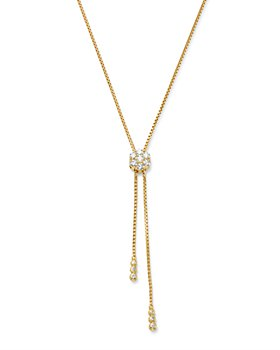 Bloomingdale's - Diamond Flower Bolo Necklace in 14K Yellow Gold, 1.50 ct. t.w. - 100% Exclusive